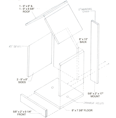 Northern cardinal birdhouse plans - Building a home according to cardinal directions ...