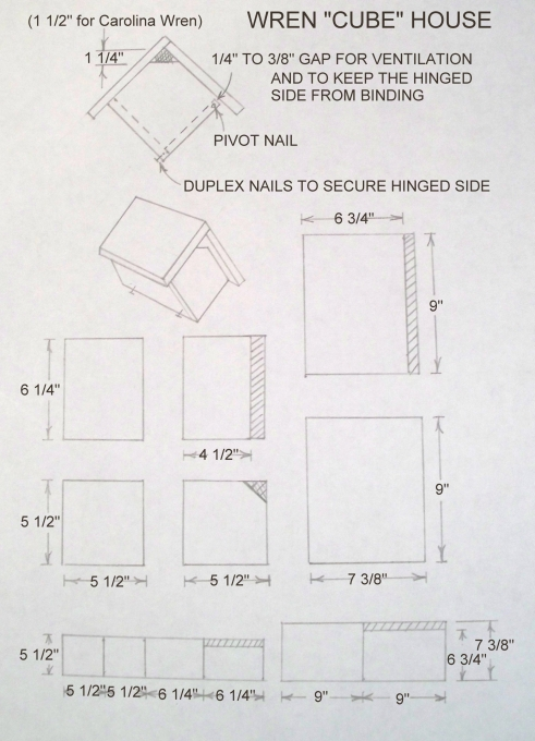 birdhouse and nest box plans for several bird species | the